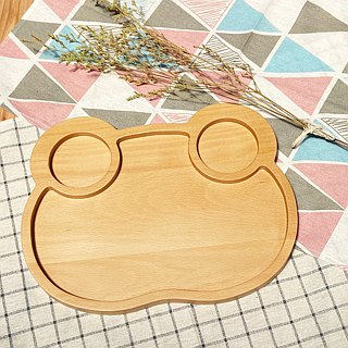 Wood for cute animal plate - frog models