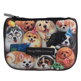 [Henry House Family] Diving Cloth Multi-function Storage Bag - Happy Hundred Dogs