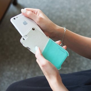 POSH | SOFT LEATHER POUCH FOR IPHONE 6/6S- GREEN
