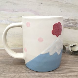 Mount Fuji mug - outbreak (left hand - big - 550ml)