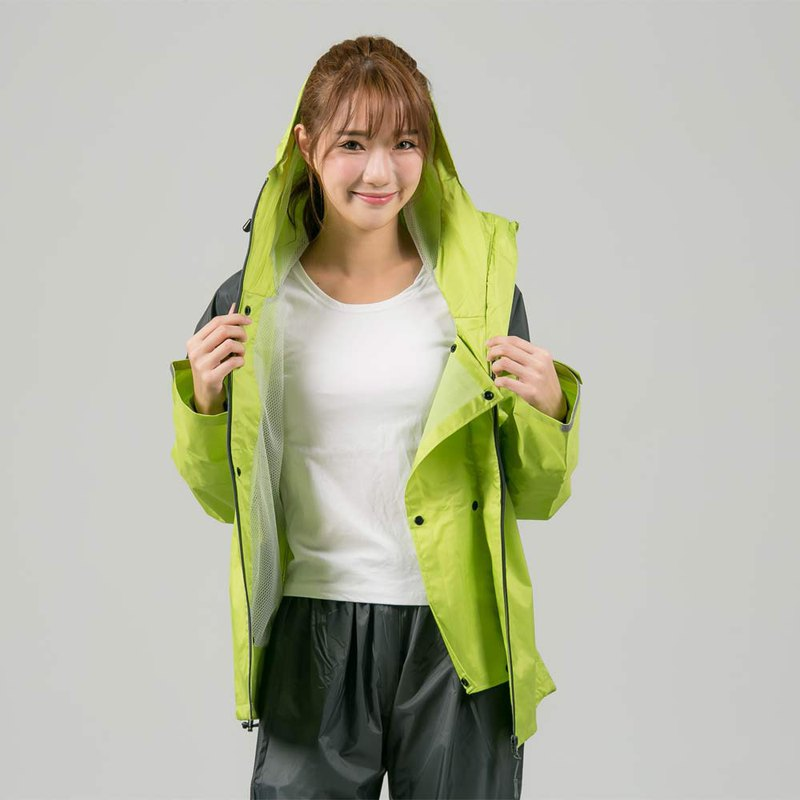 Rhino two-piece raincoat - green