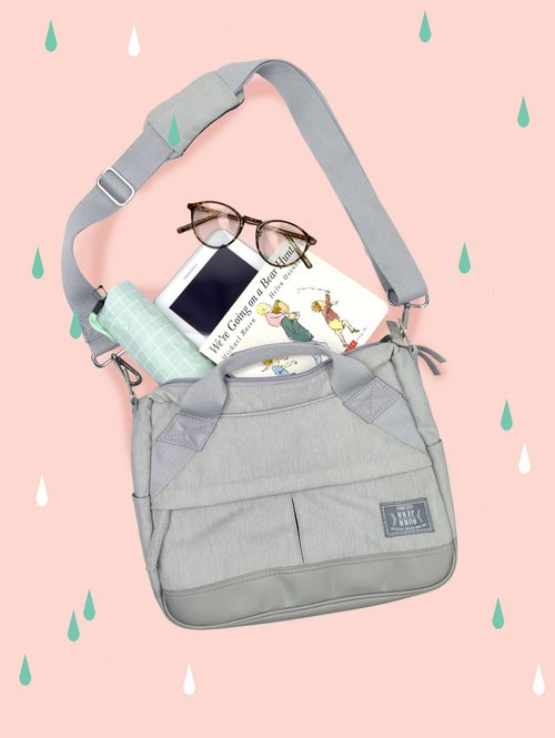 Light grey baby messenger bag
