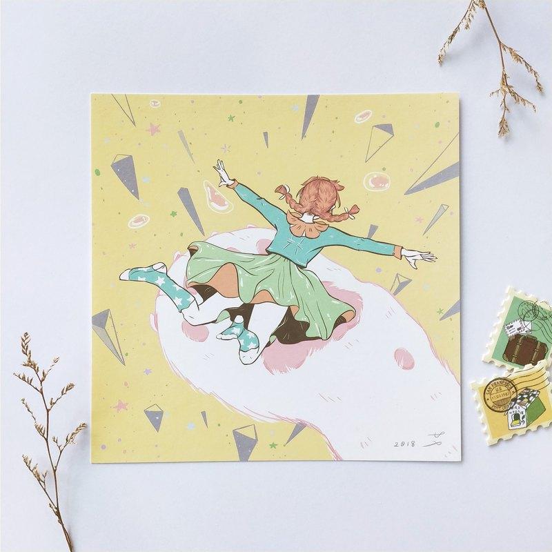 【逃跑少女】插畫明信片 -   支撐下去的力量