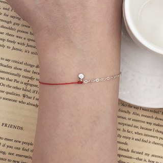 925 sterling silver half line half chain sterling silver small round diamond single diamond happiness line silver chain red line bracelet