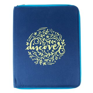 Discover Flowers and A4 stationery cloth cover with zipper [Hallmark-Livy Long series designer]