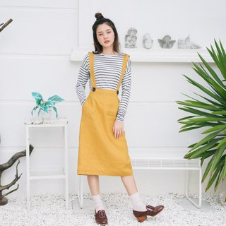 Overall Skirt - Yellow Mustard