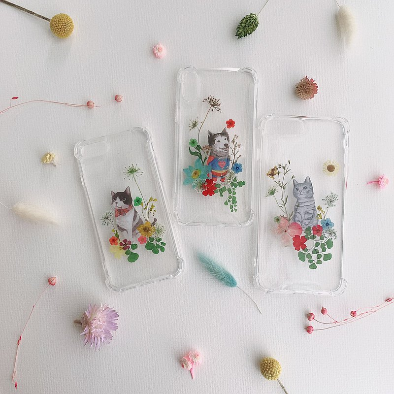 Animals and Flowers - pressed flower phone case