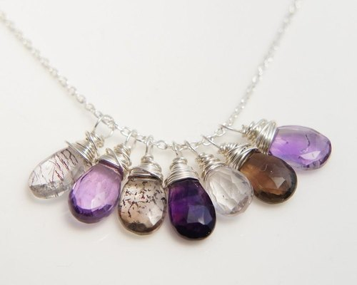 Super Seven necklace Silver