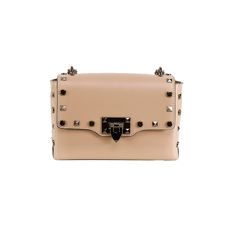 Jazzie Italian classic rivet bag champagne rice