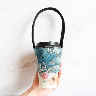 Eco-friendly beverage bag bag - blue ocean wave