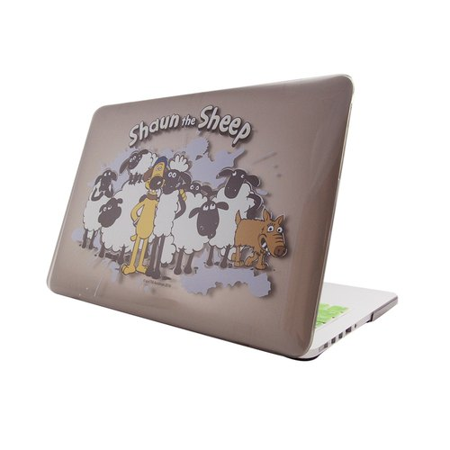 笑笑羊正版授權(Shaun The Sheep)-Macbook水晶殼:【Shaun the Sheep】(灰)《Macbook 12吋/ Air 11吋 專用》