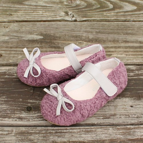AliyBonnie shoes doll shoes warm wool child - Violet