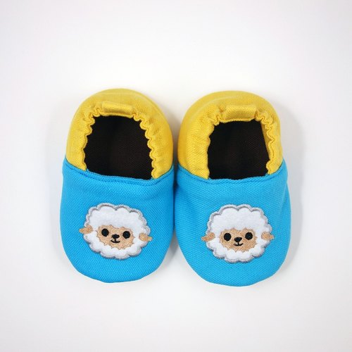 (Rabbit Mint Baby) sheep embroidered cotton baby toddler shoes - (C0001)