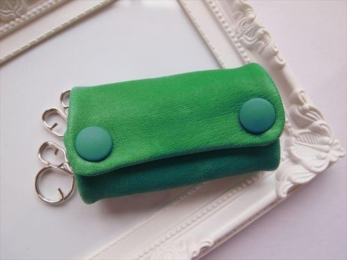Luxury pig leather soft key case [hand-dyed leather] 15430014