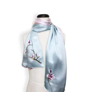 Elegant Double sides Silk scarf【Birthday Gift】【pink】【blue】【Wedding silk scarf】