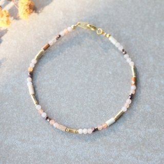 Strawberry Crystal Brass Bracelet 1152-Fireworks