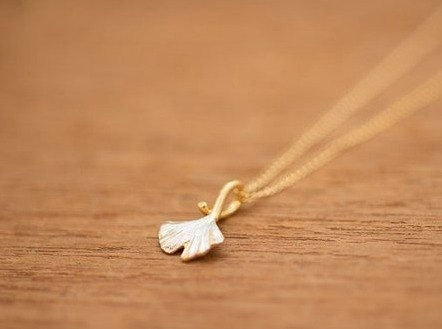 Gingko Leaf pendant - chain not included