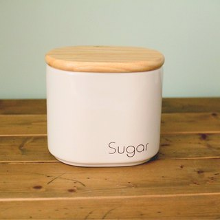 British import design Sugar wood lid ceramic storage tank sugar tank sealed tank