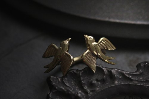 Two Swallows Ring Original design and made by Defy / Statement Ring Jewelry.