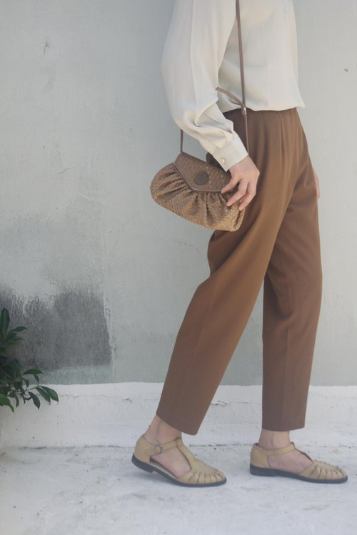 4.5studio- Geocaching vintage - retro coffee Kabuqinuo elastic trousers