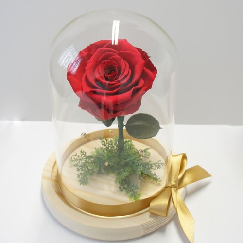 """NEW"" Amaranth large glass rose flower ceremony Little Prince Beast similar models peach pink"