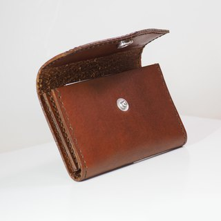 Business Card Holder - Brandy Brown