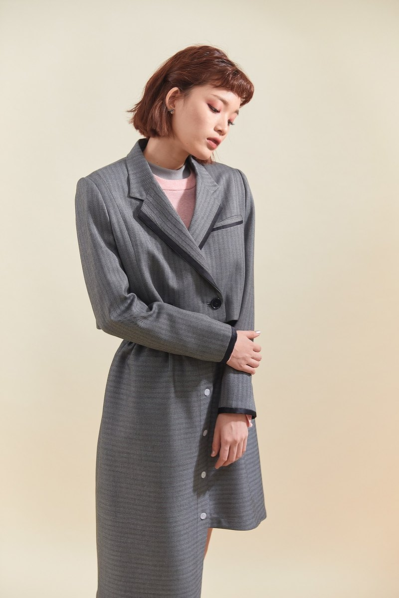 Boy tailored blazer (Grey)