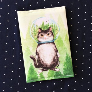 Passport holder / Passprt set*Glass ball cat*Forest cat