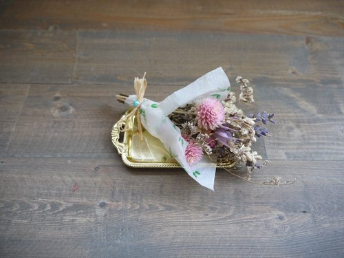 [Amaranth Sayuri X] crystal flower mini garden naturally dried bouquet
