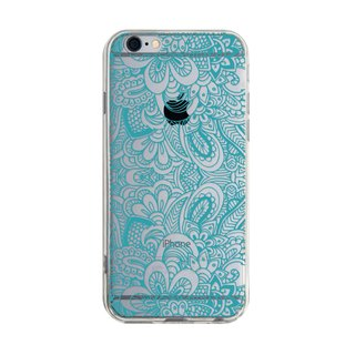 Layered blue - iPhone X 8 7 6s Plus 5s Samsung S7 S8 S9 phone case