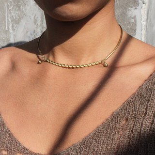 Rope Brass Adjustable Collar