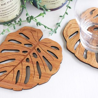 Wood coaster [Monstera] BIG