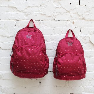 Stars~Mini water resistant backpack(12'' Laptop OK)-Dark red_100368-20