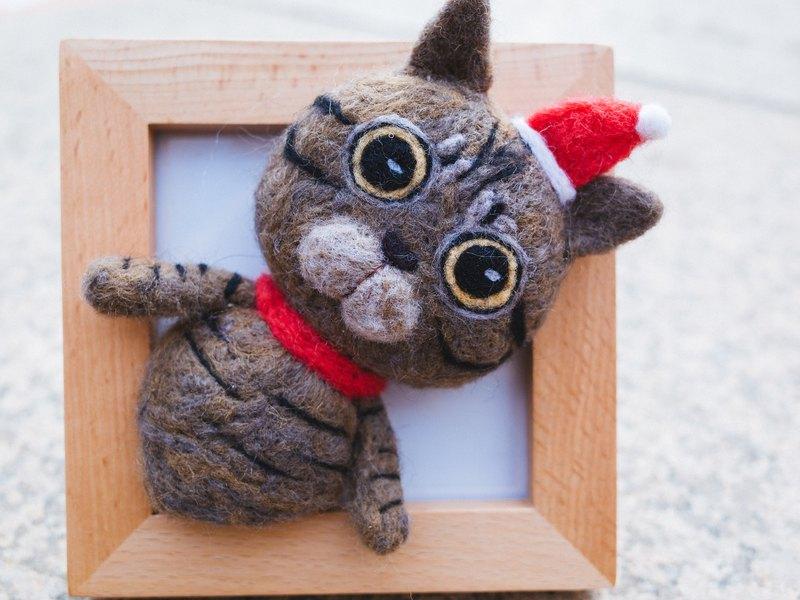 羊毛氈貓擺件