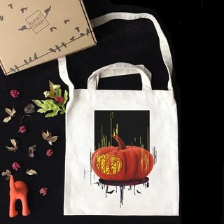 [Halloween Special] Illustrator SYU Halloween Wenchuang Wind Straight Canvas Bag