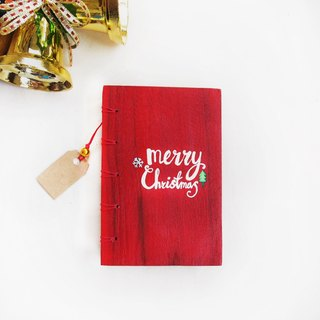 Merry Christmas notebook handmadenotebook diary handmade wood  筆記本