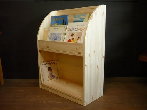 Display picture bookshelf-integrated 90 curve