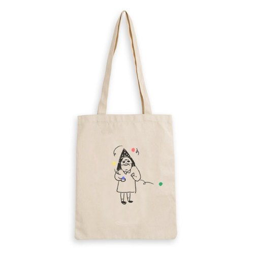 don't drop the ball...oh too late : hand print tote bag