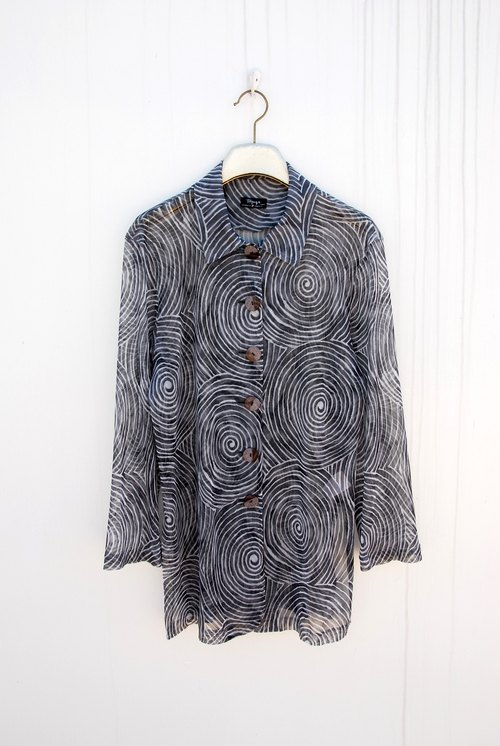 Vintage swirl transparent shirt