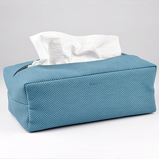 Rectangle Tissue Box Cover, Facial Tissue Holder, Soft Touch, Pure White
