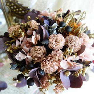 Wedding Floral Series ~ Nude Pink Rose Berry Bouquet