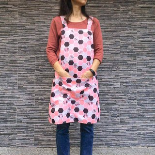 Waterproof powder orange honeycomb apron