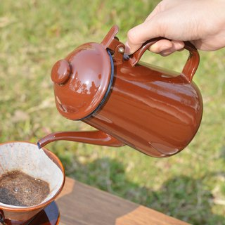 Japan high sang elfin 珐琅 hand rushing pot - coffee