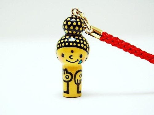 mini Kokeshi * Amitabha customers * strap * Poron ..... [2]