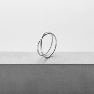 Minimalist track. ULTRA THIN DOUBLE RING