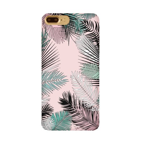 Mint powder green jungle phone shell