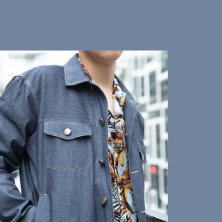 Denim with pocket Jacket color