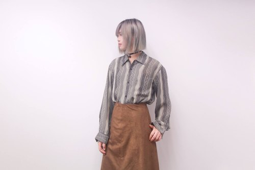 Vintage | dark gray waves komon shirt (men and women with use)