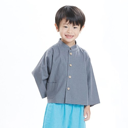 M0007 Chinese collar long-sleeved jacket - gray soap