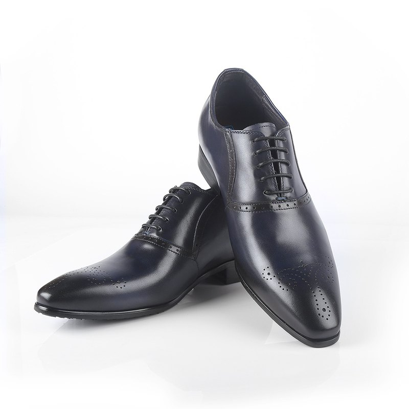 Full leather engraved inner increase Oxford shoes 10047080